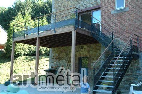 Terrasse Terrasse en 2018 Pinterest Patio, Steel deck et Balcony