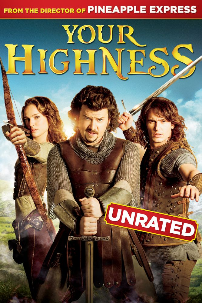 Your Highness Unrated Movie Poster Natalie Portman Danny