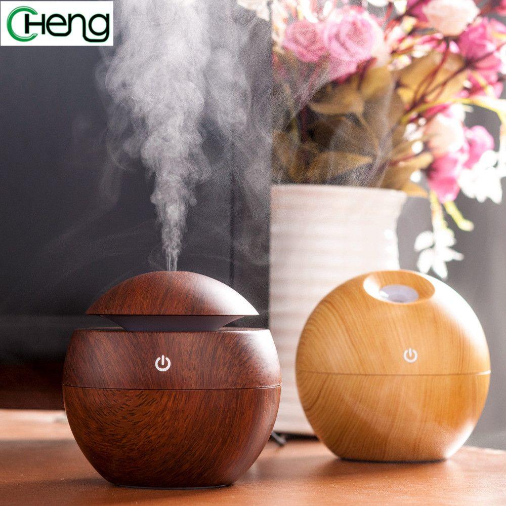 Mini Tragbare Exquisite Holz Zerstauber Komfort Luftfeuchtigkeit Diffusor Luftreiniger Ultraschall Aroma Luftbefeucht Raumduftspray Luftreiniger Luftbefeuchter