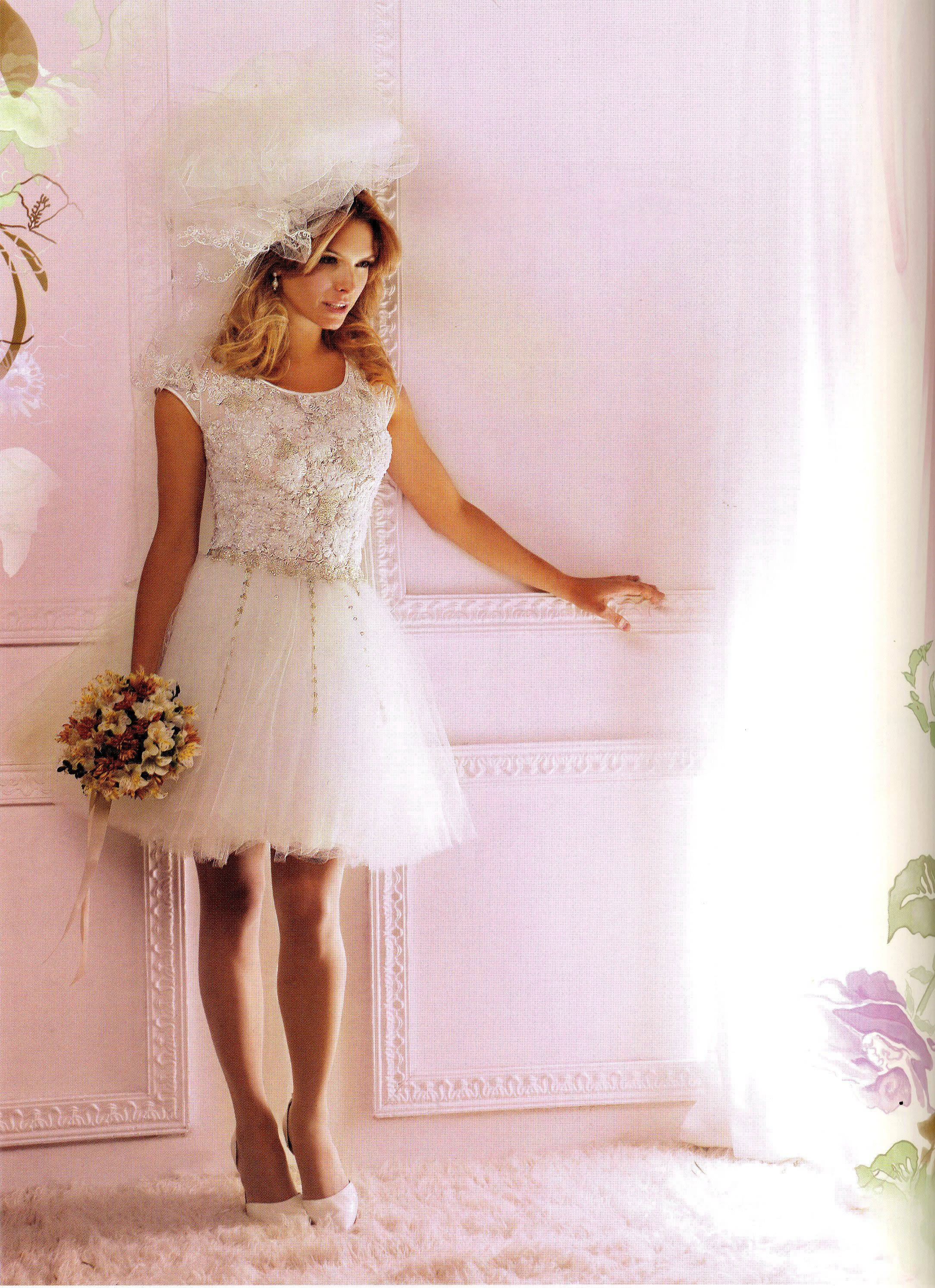 Vestido de novia corto, con tules y bordados Reina Juliette!.. ideal ...