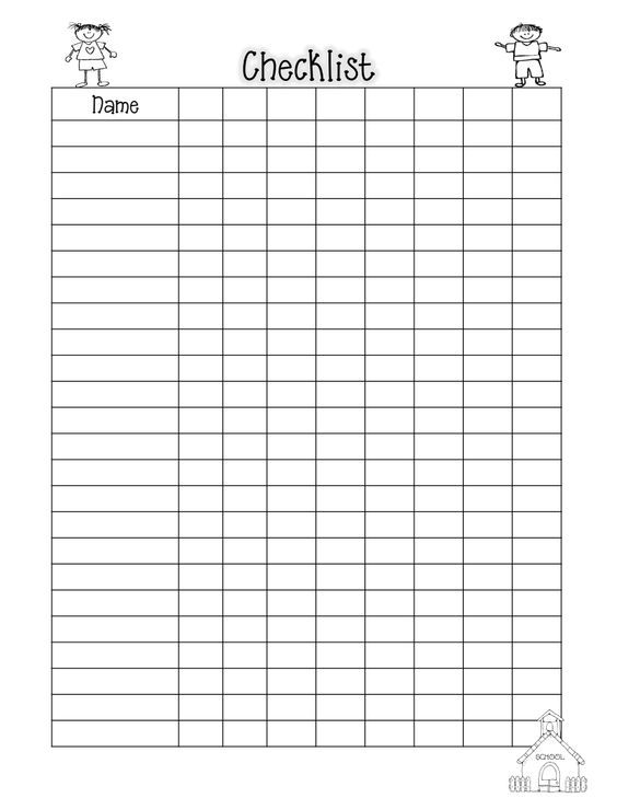 Class List Blank 11-12pdf Education Pinterest School - printable attendance sheet for teachers