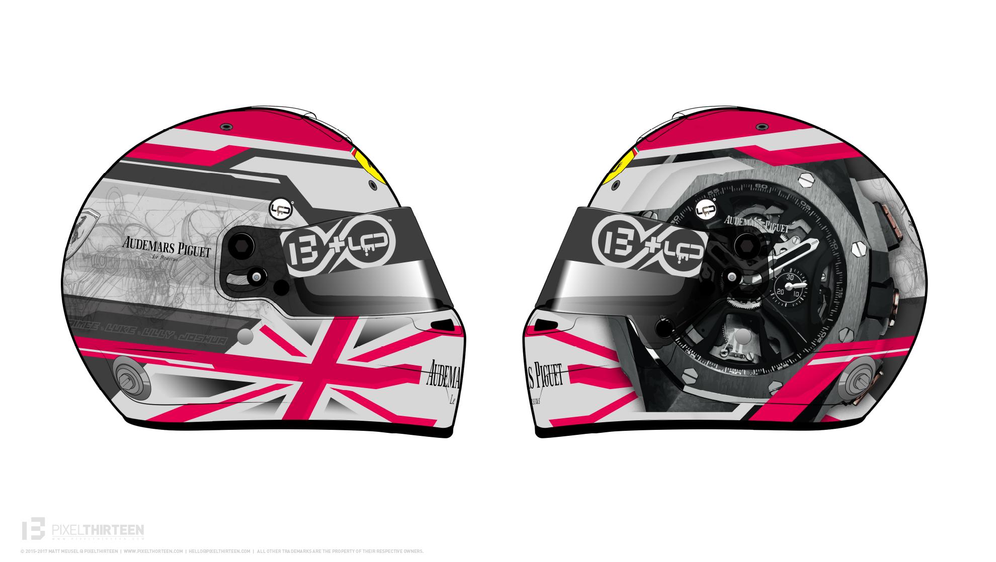 Racing Helmet Design done by PIXELTHIRTEEN