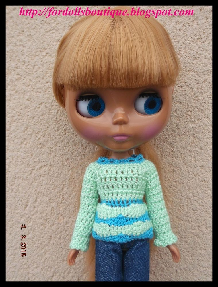 Handmade clothes ropa for Blythe dolls: sweater (doll not included) in Juguetes | eBay