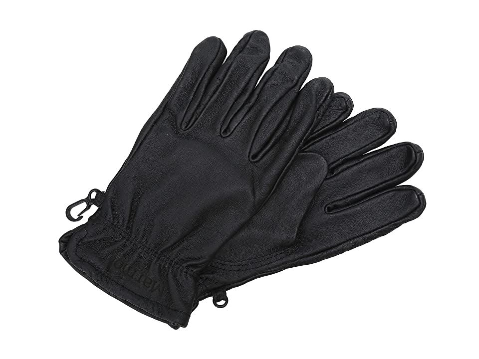 Marmot Basic Work Glove (Black) Extreme Cold Weather Gloves. Whether you are using them for some hard work or adding a little style for the upcoming season  the Basic Work Glove from Marmot will have you prepared for anything! DriClime Bi-component wicking lining for breathability and excellent moisture transfer. Falcon grip articulated for dexterity and ease of grip. Marmot logo at cuff. 100% pig leather. Lining: 100% polyest #Marmot #Accessories #Gloves #ExtremeColdWeather #Black