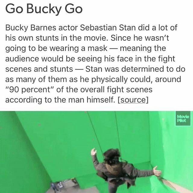 He still had two other stunt doubles for when it got too dangerous or too complicated.