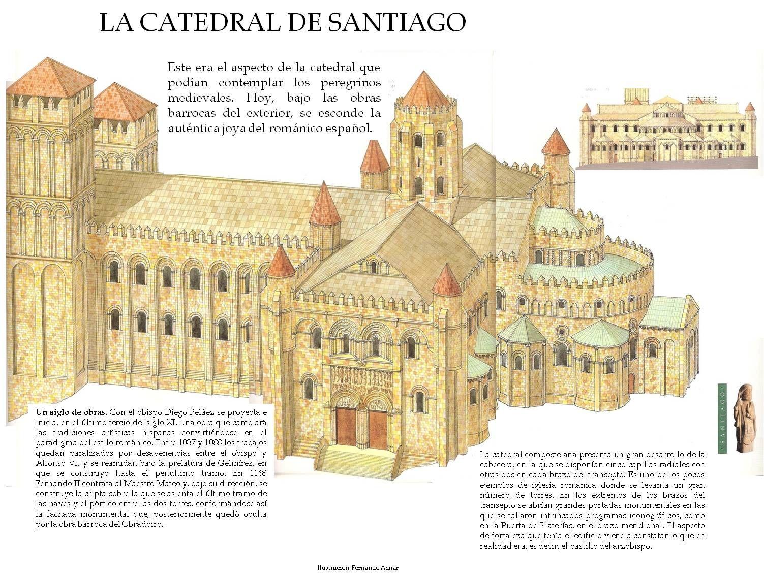 Santiago De Compostela Arquitectura Romana Arquitectura Paleocristiana Dibujos De Arquitectura Concepto