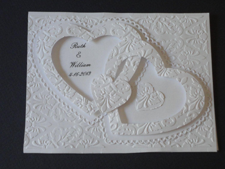Double Heart Wedding Invitation | Wedding Bliss ...