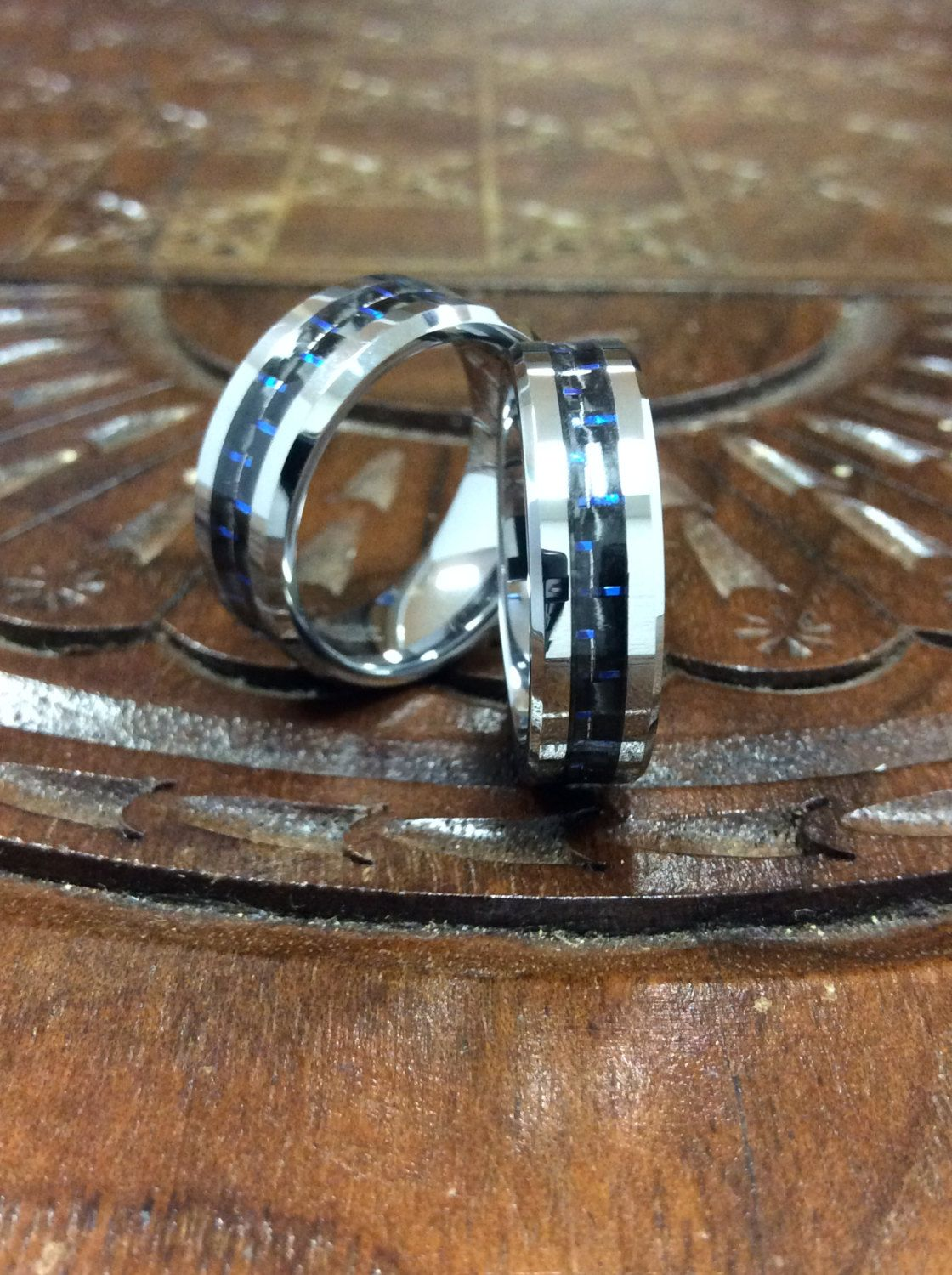 Free Engraving Included. His & Her's Matching 8mm/6mm