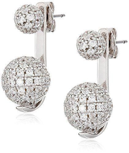 Make your ears glisten with these silver ear jackets.