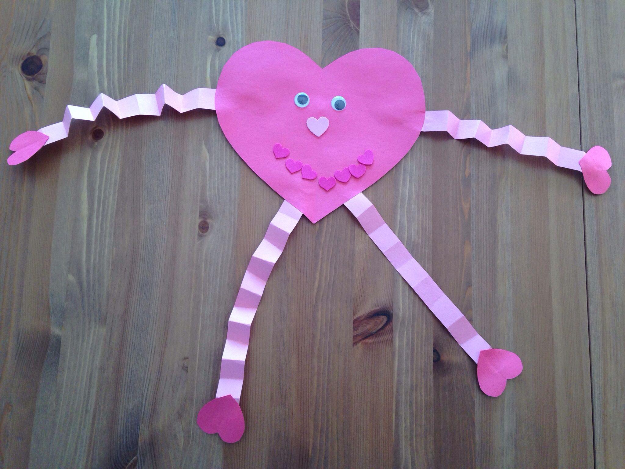 Heart Girl Craft  Heart Man Craft  Preschool Craft