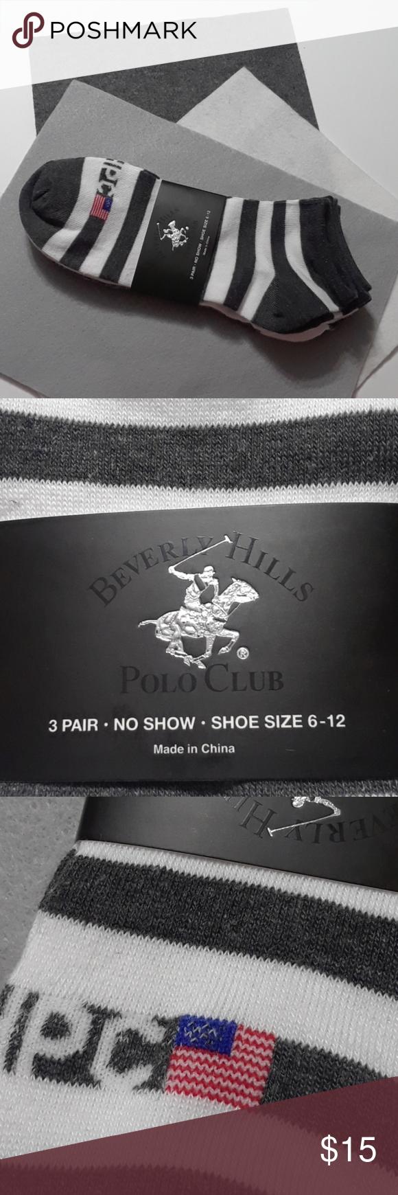 Beverly Hills Polo Club 3 Pair No Show Socks Beverly Hills Polo Club No Show Socks Polo Club