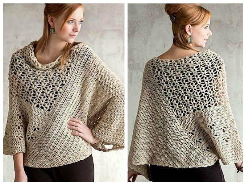 Sweater in BOHO Style. [Free Pattern]