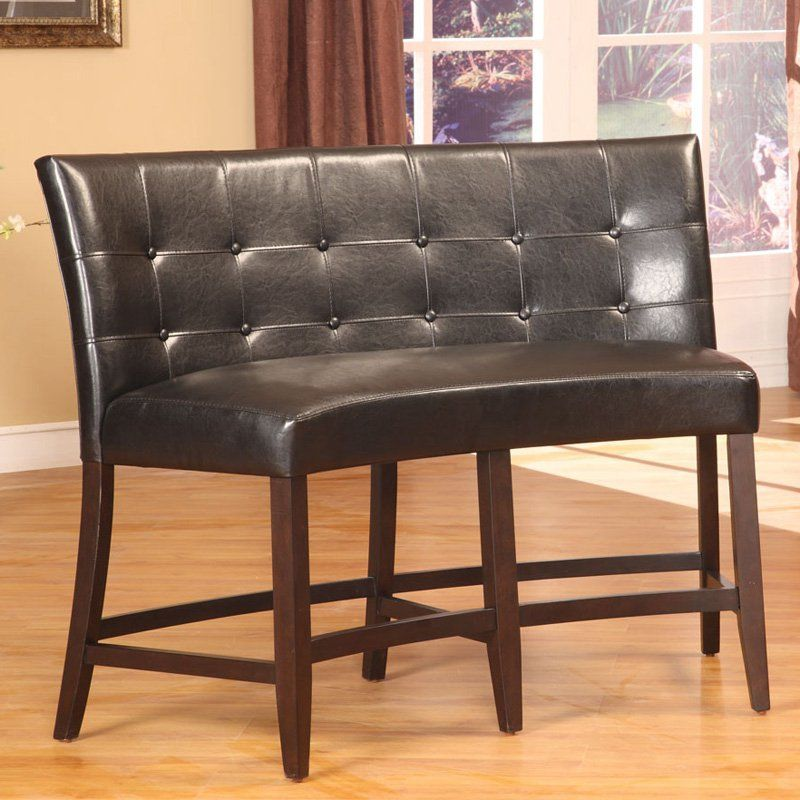 Bossa Counter Height Banquette Black Leatherette 2y0270d