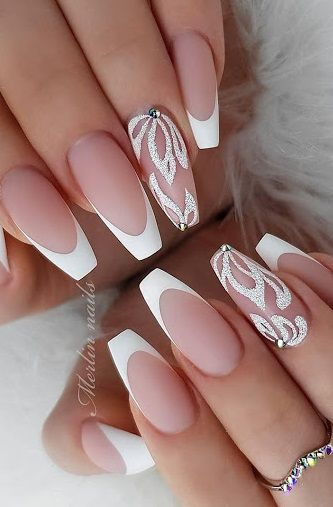 25 Latest French Tip Nail Art Designs In 2020 Nail Art Designs French Tip Nail Art Best Nail Art Designs
