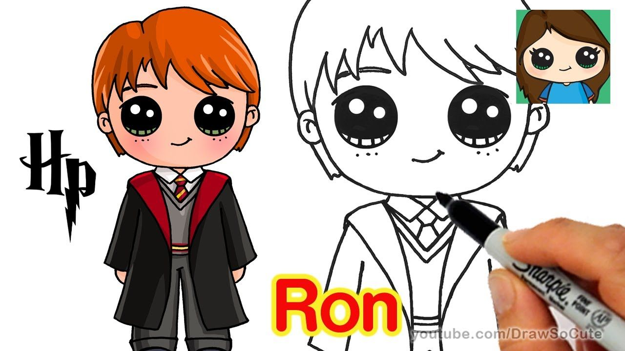 How To Draw Ron Weasley Easy Harry Potter Con Imagenes