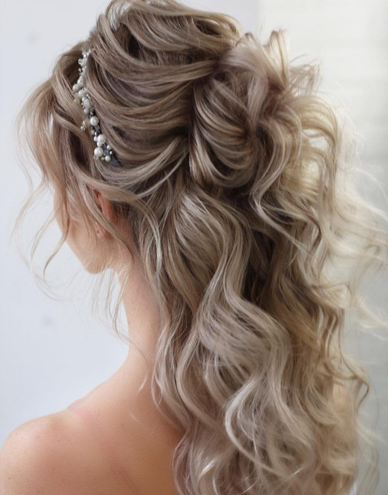 22 Half up Wedding hairstyles for 2020 ~ KISS THE