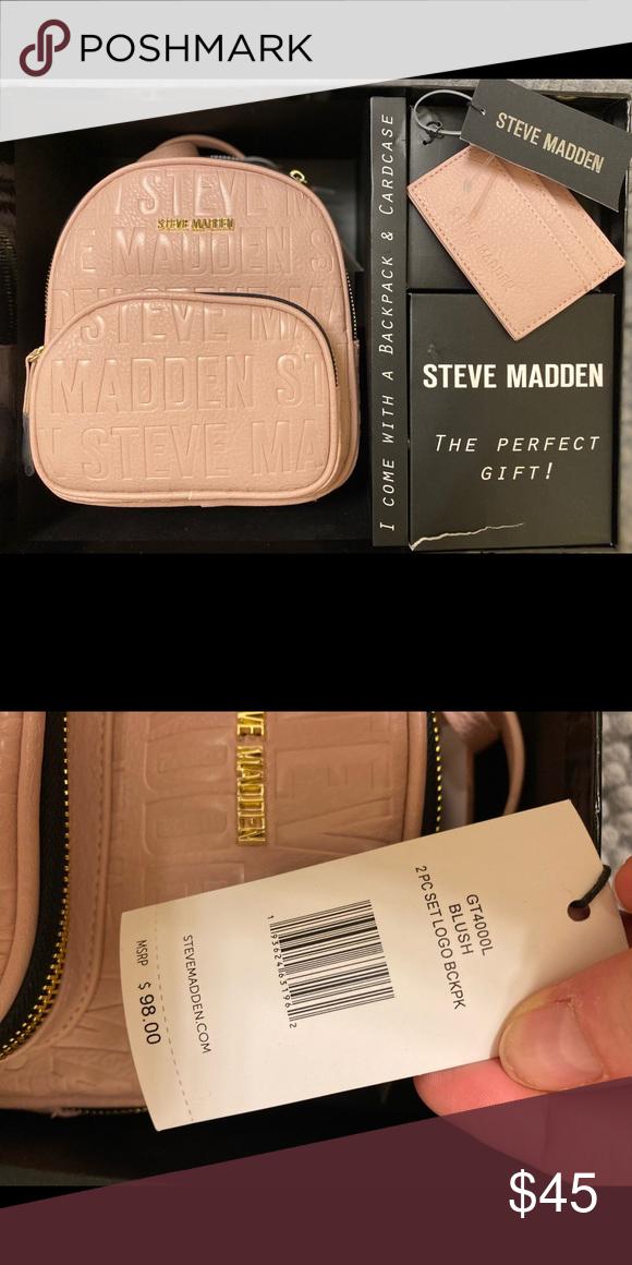 Steve Madden Logo Backpack Steve Madden Backpack Steve Madden Bags Steve Madden