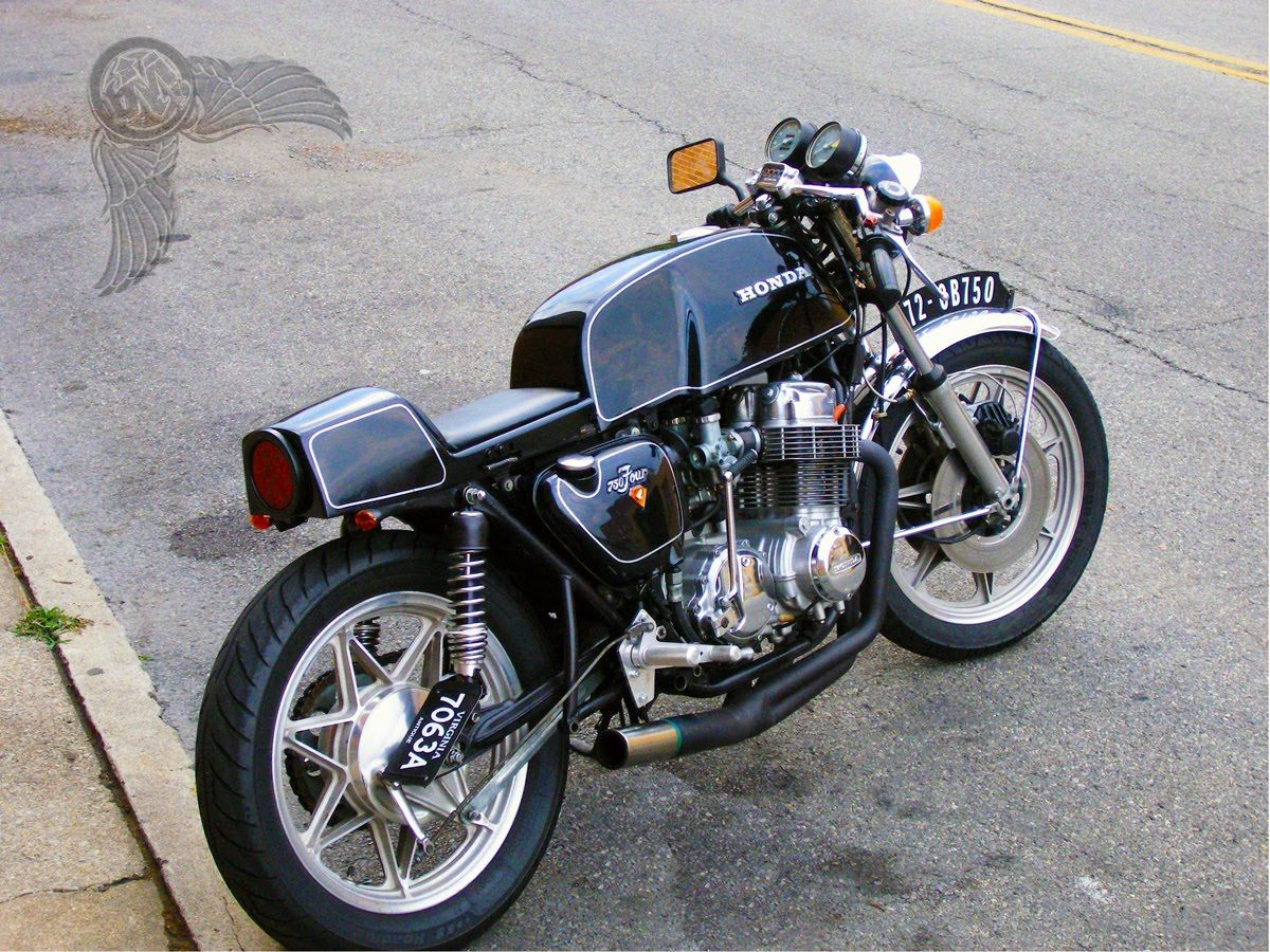 Honda CB750 Cafe Racer Black Bikermetric