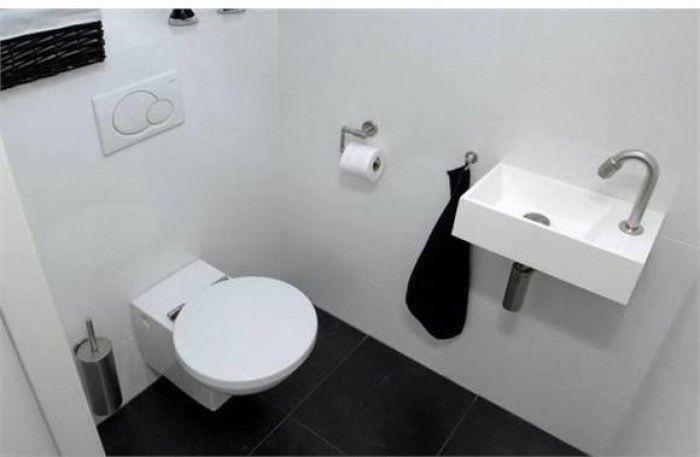 Wc sluiting zwart met vierkante rozet en zwart wit vrij bezet