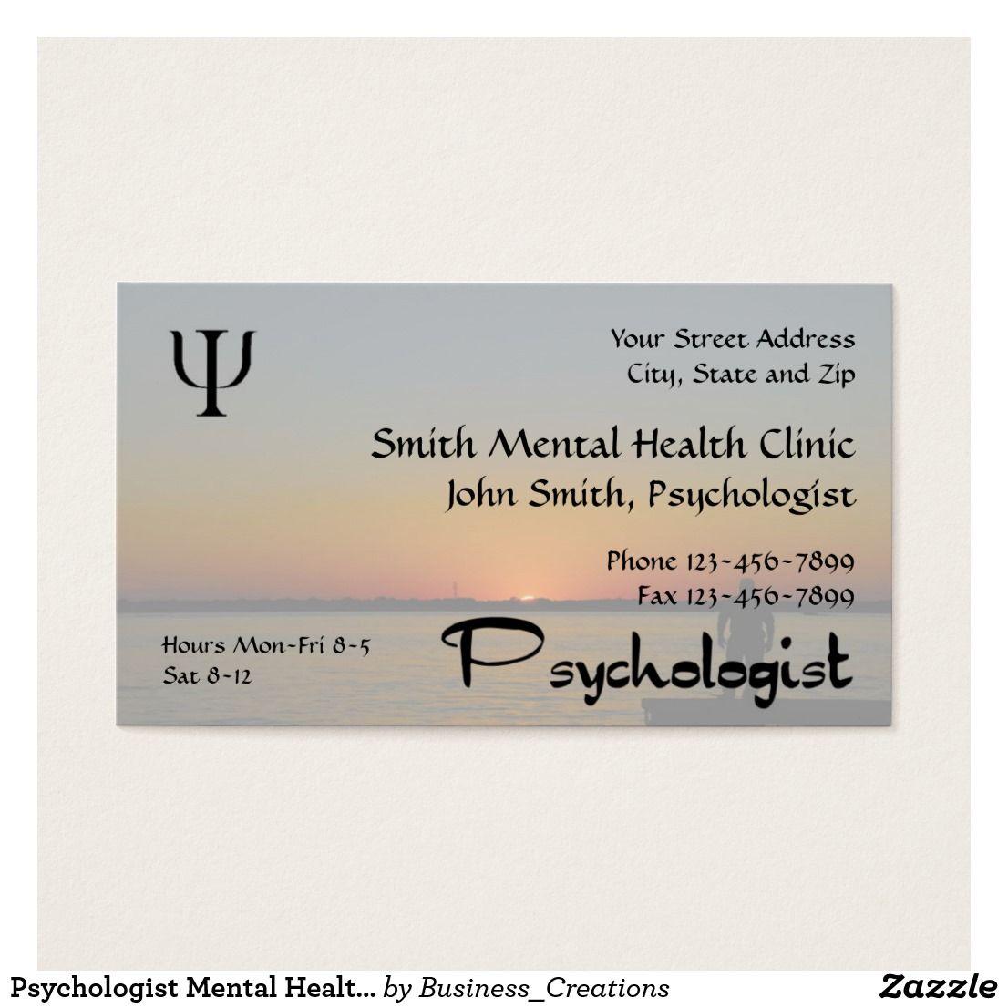 Psychologist Mental Health Business Card Psychologist