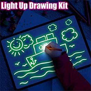 3D Magic Drawing Pad LED Writing Board Light Fun Schreibtablett Developing Toy
