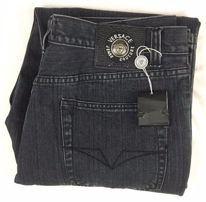 Vintage Versace Jeans Couture Ittierre 059889 Black Cotton Denim 38x34 Italy Vintage Versace Clothes Versace Jeans Couture