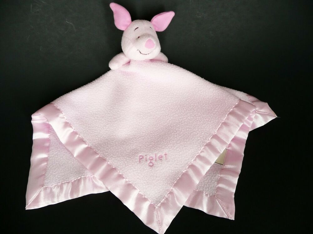NWT DISNEY BABY Pink POOH Cute /& Cuddly RATTLE BEAR SECURITY BLANKET LOVEY HTF