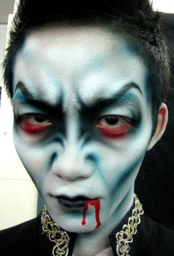 Maquillaje de Halloween para Hombre maquiyaje en cara Pinterest