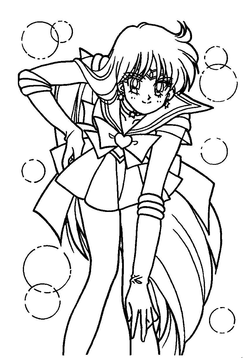 Sailor Mars Coloring Page // #sailormoon | Sailor Moon | Coloring ...