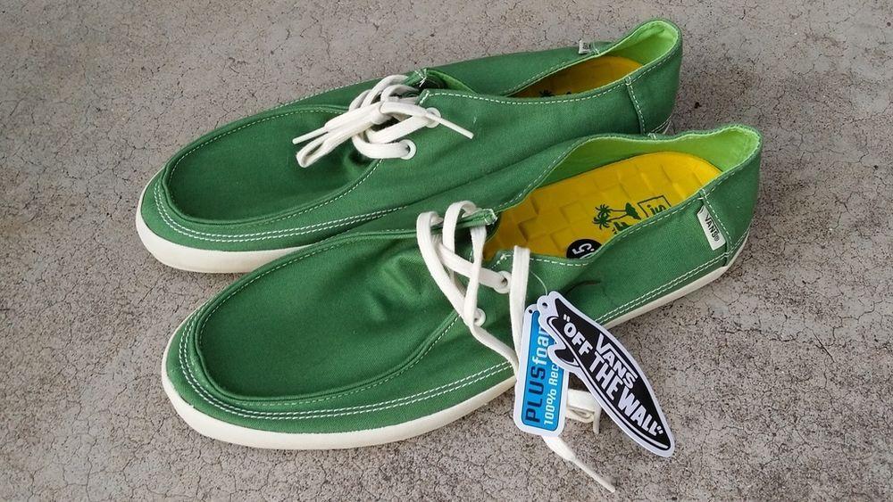 ca77daff6e VANS RATA VULC Green Lime SURF SIDERS Beach Shoes Men s size 10.5 NEW!  VANS   SurfSiders