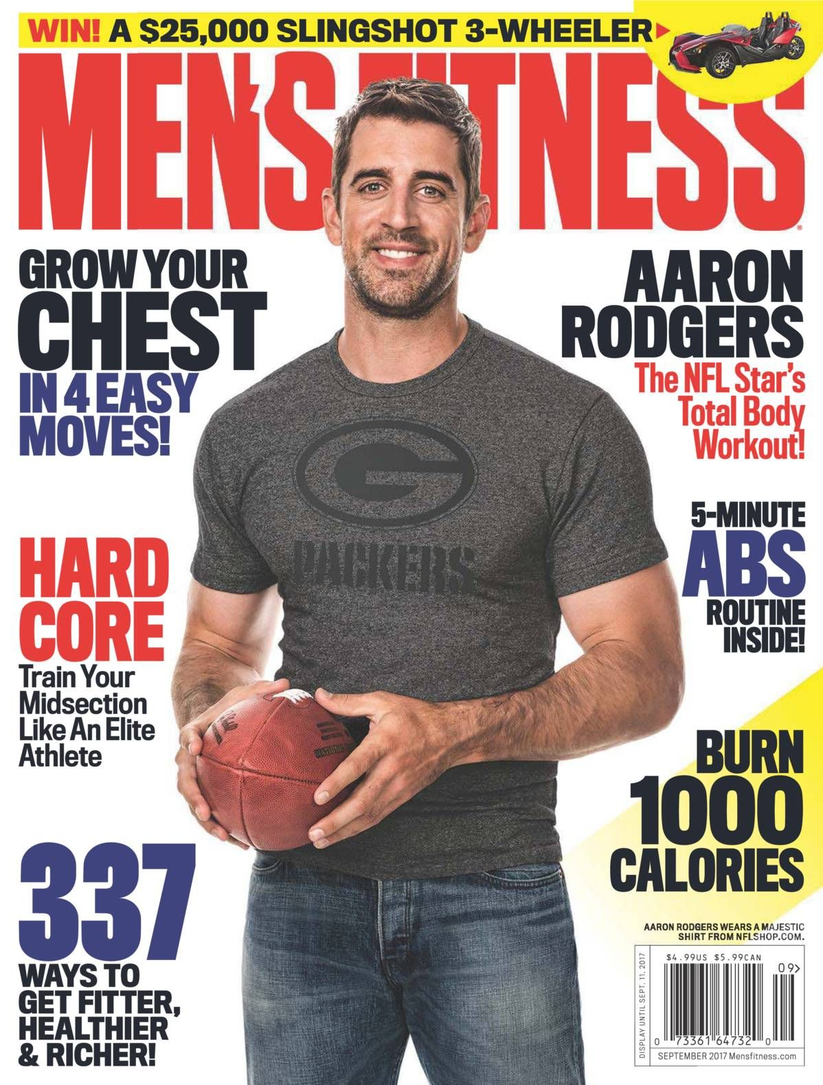 Free Download Men S Fitness Us Magazine September 2017 Rodger That Packers Qb Aaron Rodgers Reveals His Mens Fitness Magazine Aaron Rodgers Mens Fitness