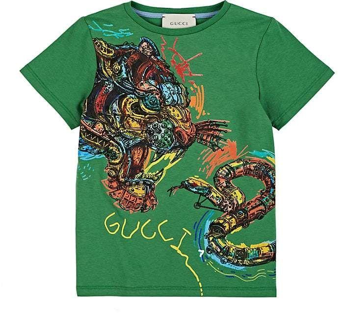 2f0cb4166be Gucci Kids  Tiger- -Snake-Print Cotton T-Shirt