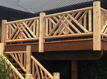 Best Ryan S Rustic Railings Custom Log Railings 400 x 300