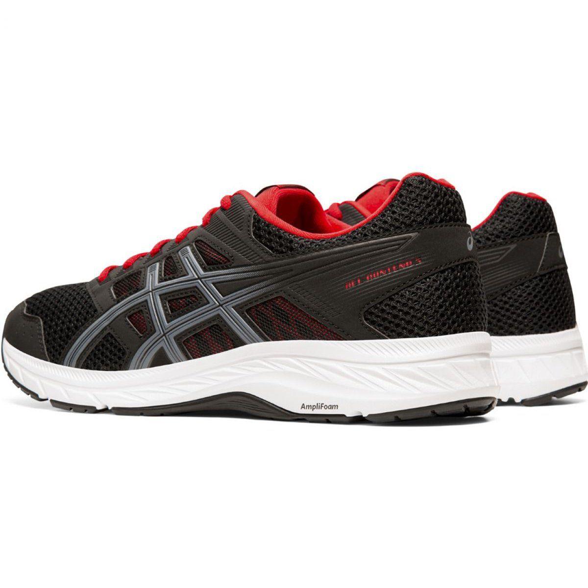 Treningowe Bieganie Sport Asics Buty Asics Gel Contend 5 M 1011a256 005 Czarno Czerwone Black And Red Shoes Comfortable Shoes