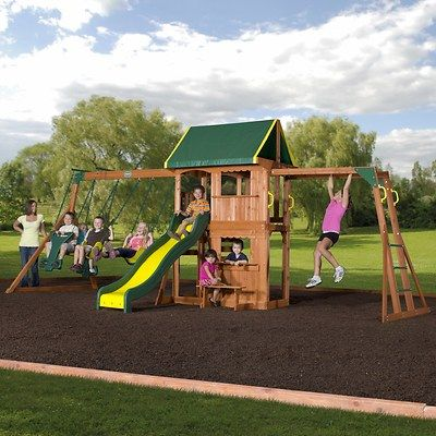 The Prairie Ridge From Backyard Discovery Is A Full Featured Cedar Swing  Set Your Kids