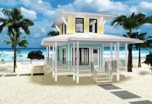 Coastal Home Plans Little Kai Beach House Plans Beach House Decor Tiny Beach House