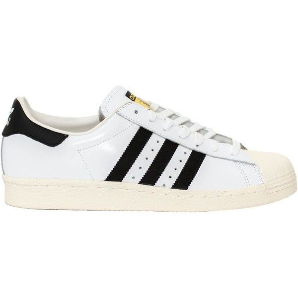 Adidas Originals - Sneakers superstar 80's In Pelle ($55) ❤ liked on Polyvore featuring shoes, sneakers, white, white sneakers, 80s footwear, adidas originals, 80's fashion shoes and eighties shoes