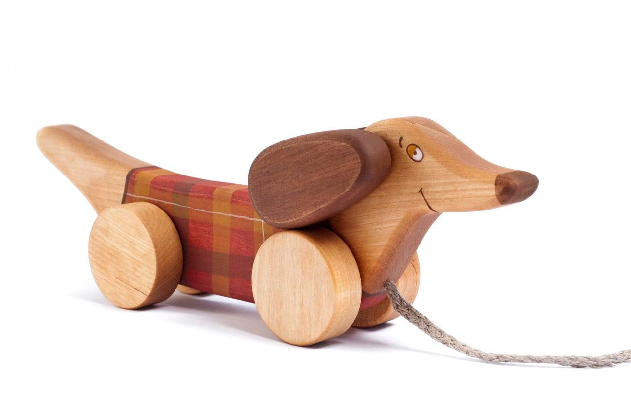 Sausage Dog Pull Toy Pull Toy Pull Along Toys Wooden Toys