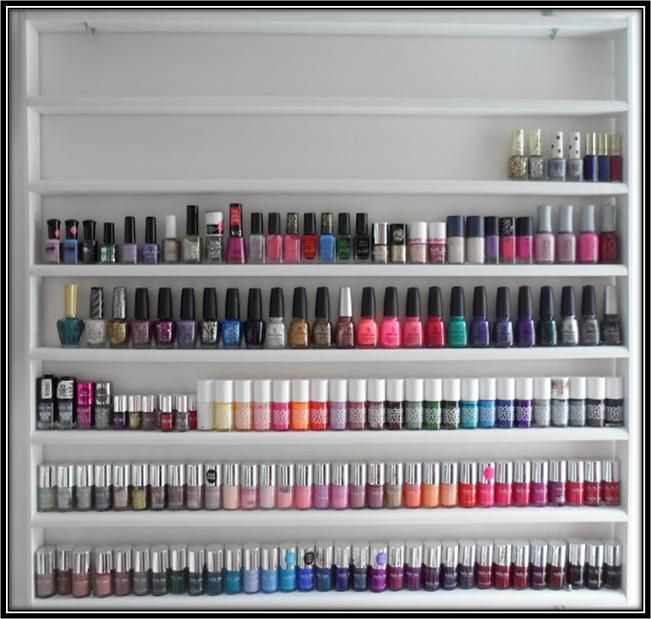 Make-a-Nail-Polish-Rack.jpg (651×619) | ♡organize♡ | Pinterest ...