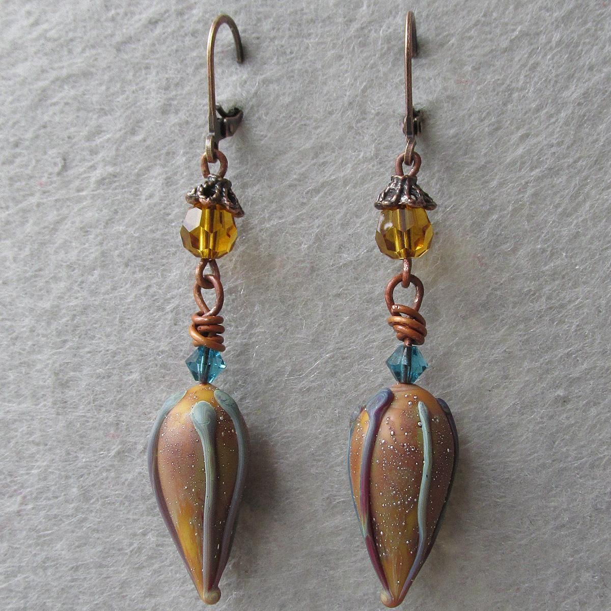 U201cMy Secret Gardenu201d Is One Room Within My Artisan Jewelry Shop Where The  Earrings Were Inspired By My Love Of Flowers, Plus My Love Of Art Glass. All