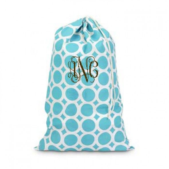 Turquoise Monogram Bag Monogrammed Laundry Bag A Great
