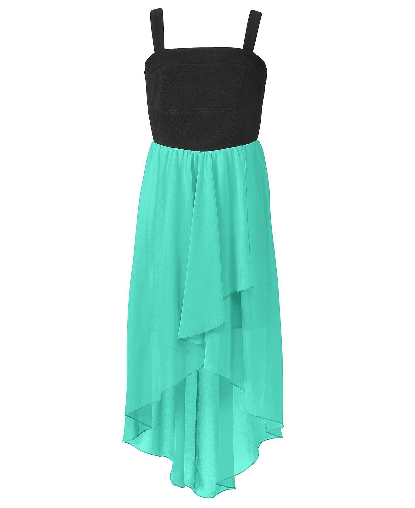 Ruby Rox Girls Dress, Girls Chiffon High-Low Dress - Kids - Macy\'s ...