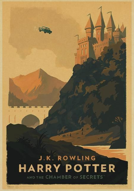 Vintage Poster Harry Potter Themes Hogwarts And Express