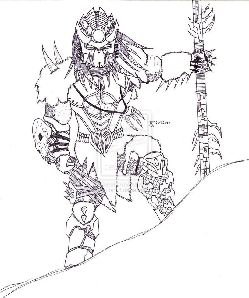alien vs predator coloring pages Google Search (With