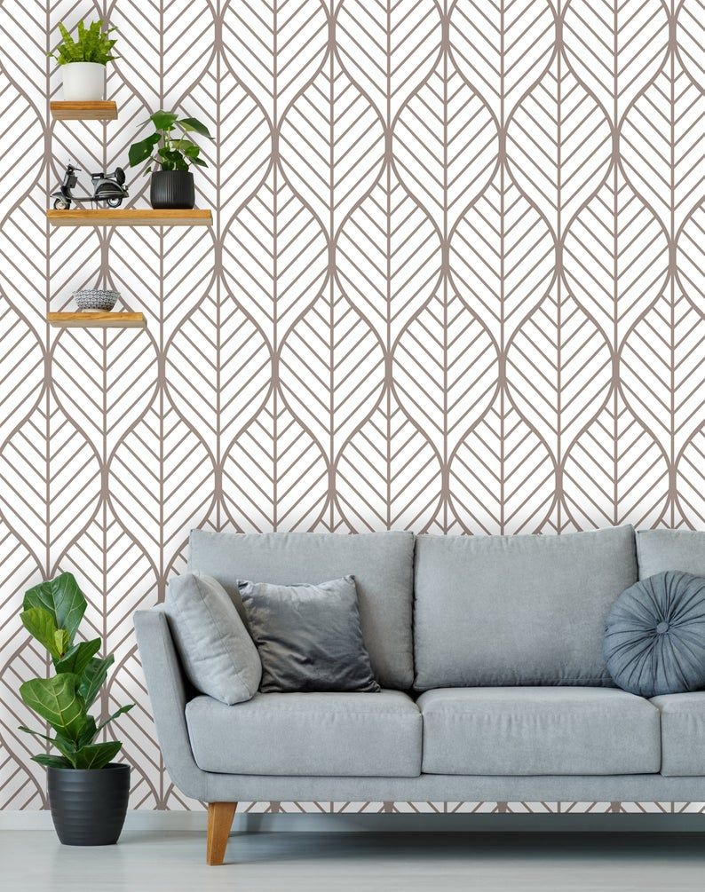 Removable Wallpaper Peel And Stick Geometric Wallpaper Etsy In 2020 Geometric Wallpaper Removable Wallpaper Vintage Wallpaper