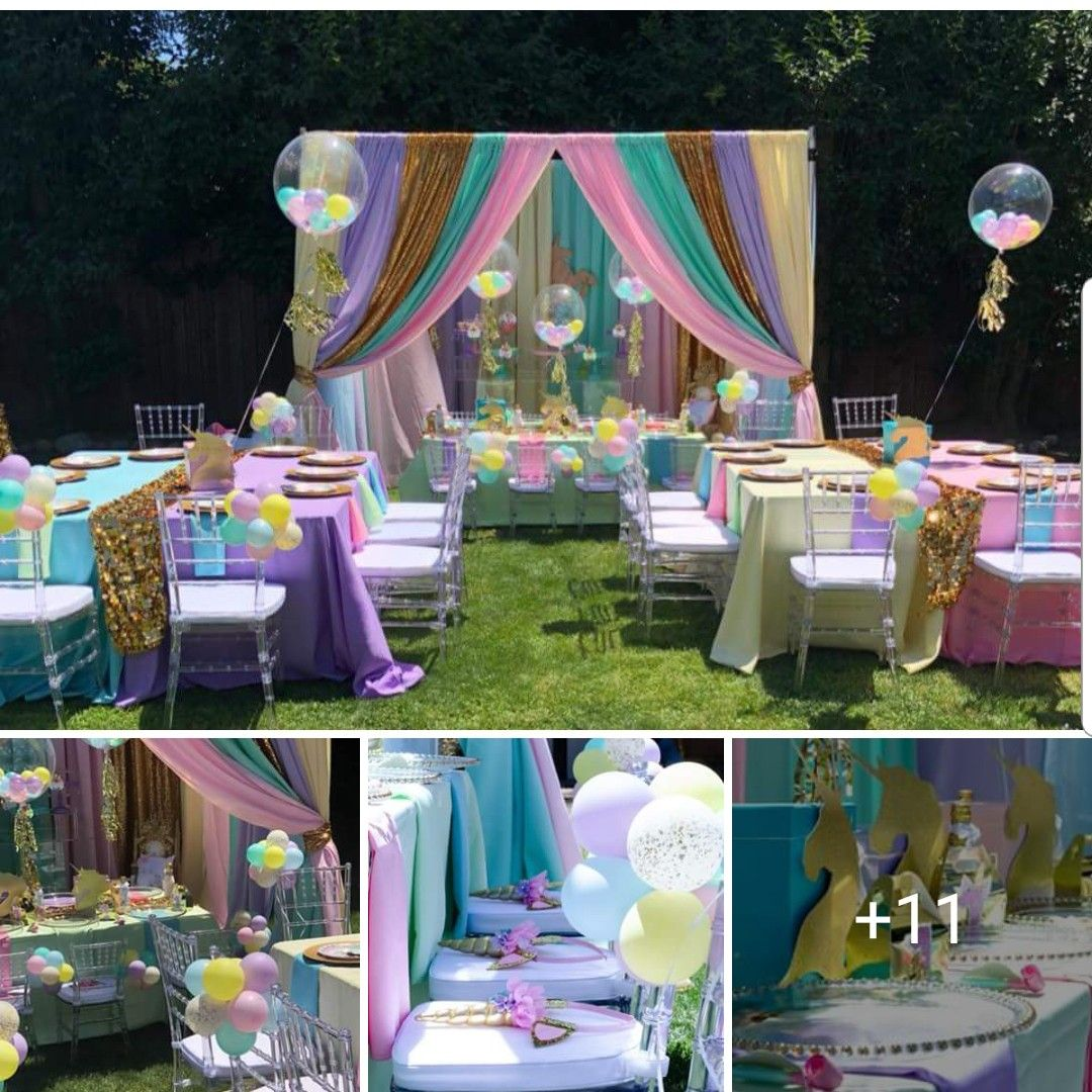 10 Years Old Girl Bd Unicorn Themed Birthday Party Outdoors Birthday Party Unicorn Birthday Parties