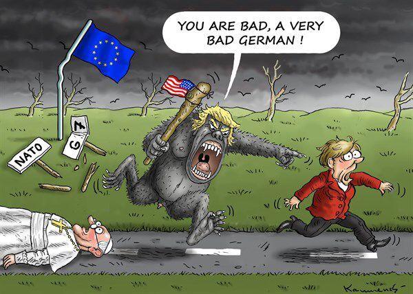 """Résultat de recherche d'images pour """"trump europe caricature"""""""