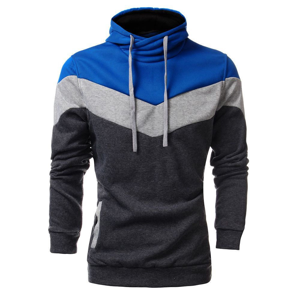Mens Casual Slim Fit Hoodie neck a ivory plaid Winter