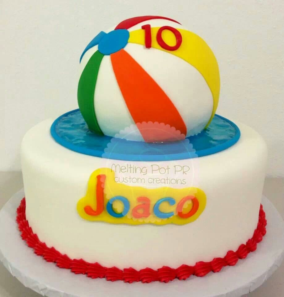 Cake Decorations For Pool Party : Pool party cake Birthdays, Showers and Other Parties ...