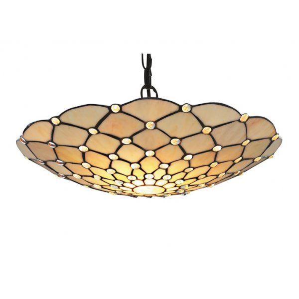 Searchlight 1468cl 7816bk raindrop 1 light ceiling pendant antique brass clear ocean lighting £